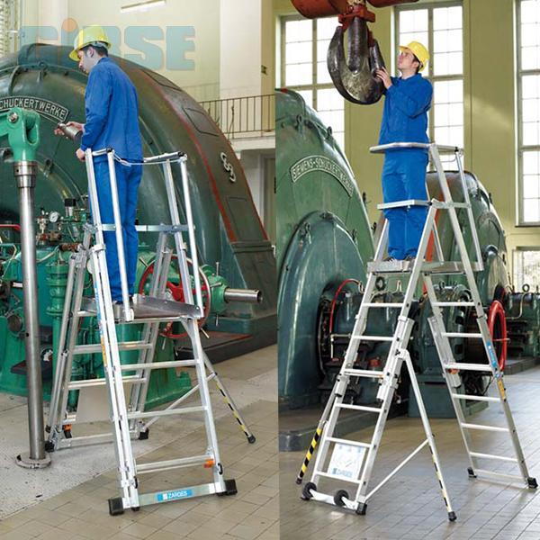Zarges zap teleskop plattformleiter z600 for Escaleras zarges